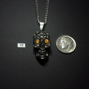 Skull opal necklace.